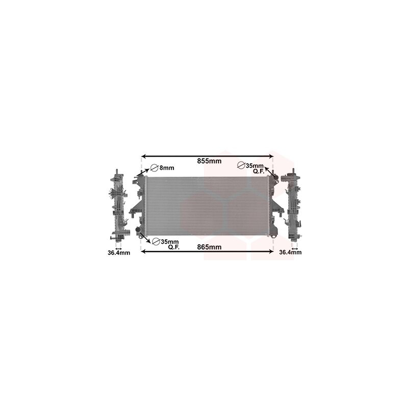 Motork/ühlung VAN WEZEL 27002212 K/ühler
