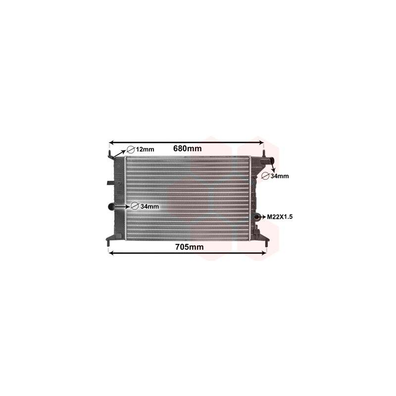 van Wezel 26002015 Kühler Motorkühlung