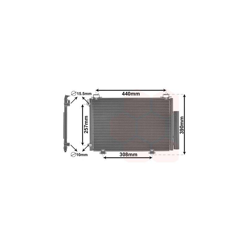 94581 Klimaanlage NissensKondensator für Toyota Klimakühler, u.a