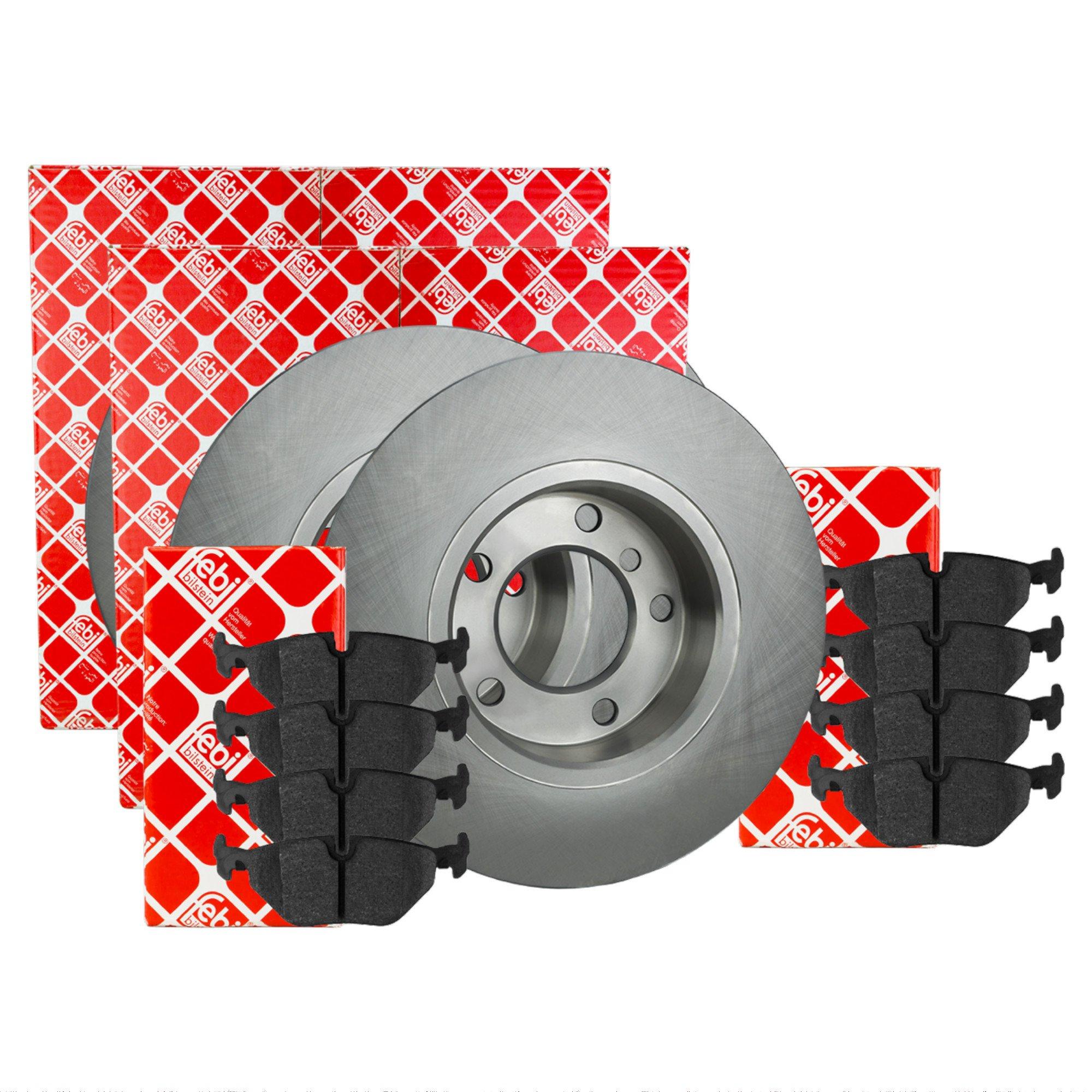 FEBI BILSTEIN Bremsscheiben Set Beläge AJJBV vorne für VW PASSAT 3B2 3B5 1.6