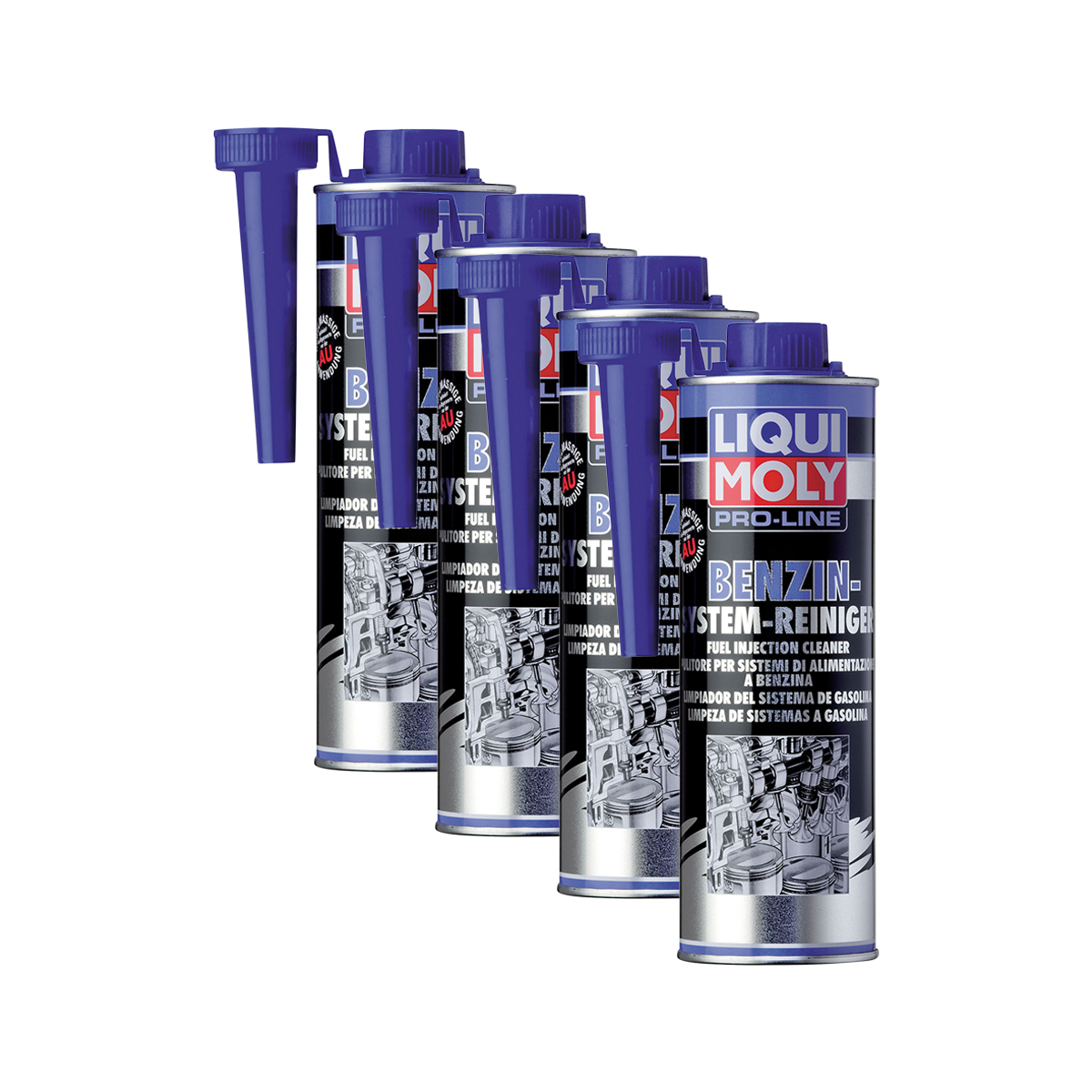 4x liqui moly 5153 pro line benzin system reiniger kraftstoff additiv 500ml ebay. Black Bedroom Furniture Sets. Home Design Ideas