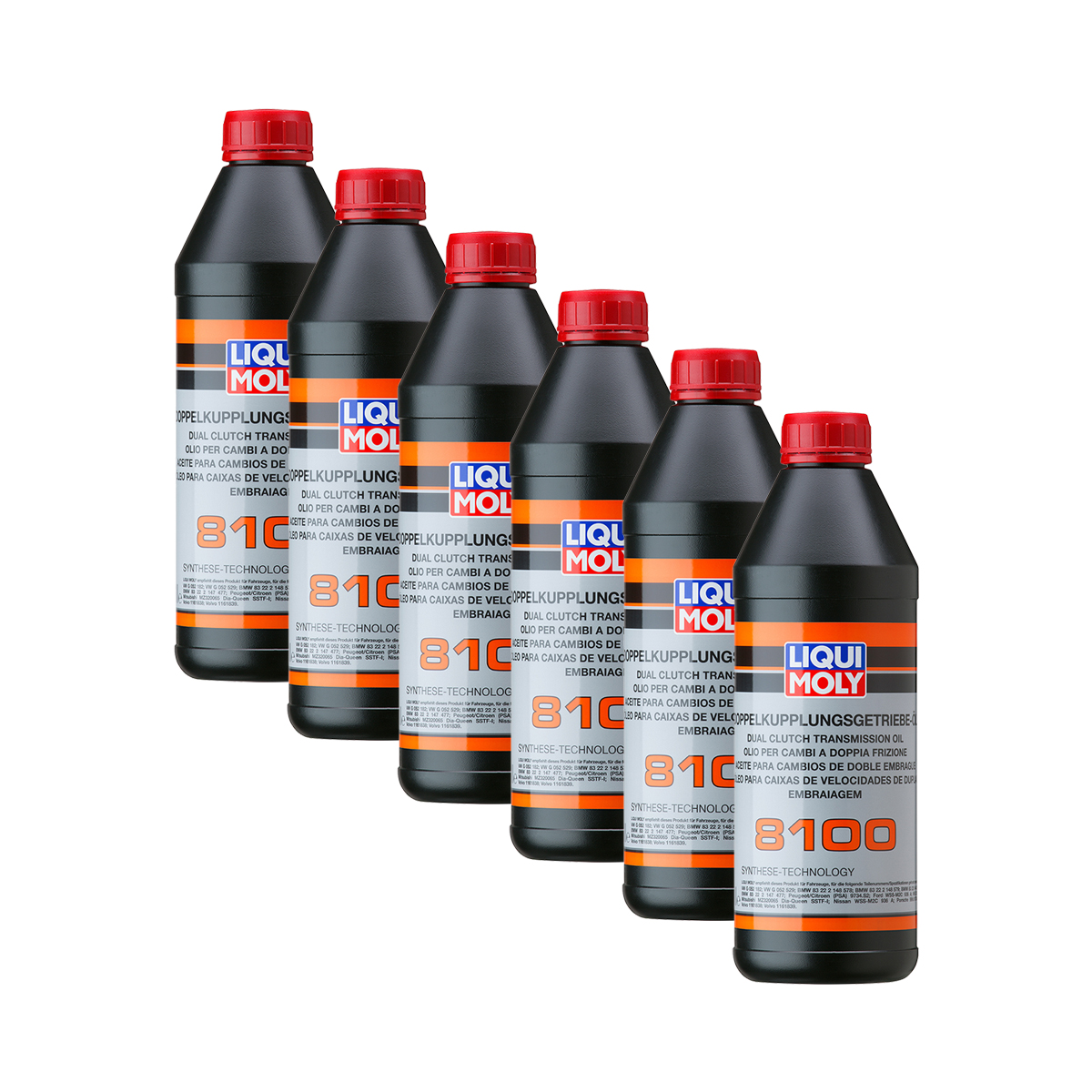 6x liqui moly 3640 doppelkupplungsgetriebe l 8100 f r audi vw bmw mb ford 1l ebay. Black Bedroom Furniture Sets. Home Design Ideas