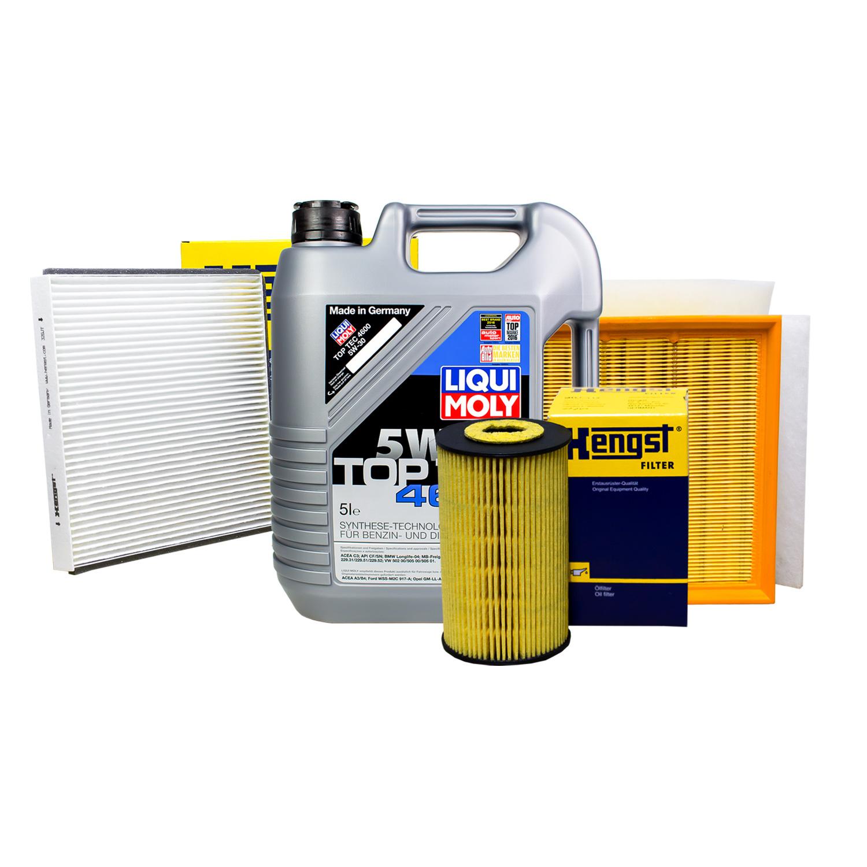 hengst filter set inspektionspaket 5l liqui moly 5w 30. Black Bedroom Furniture Sets. Home Design Ideas