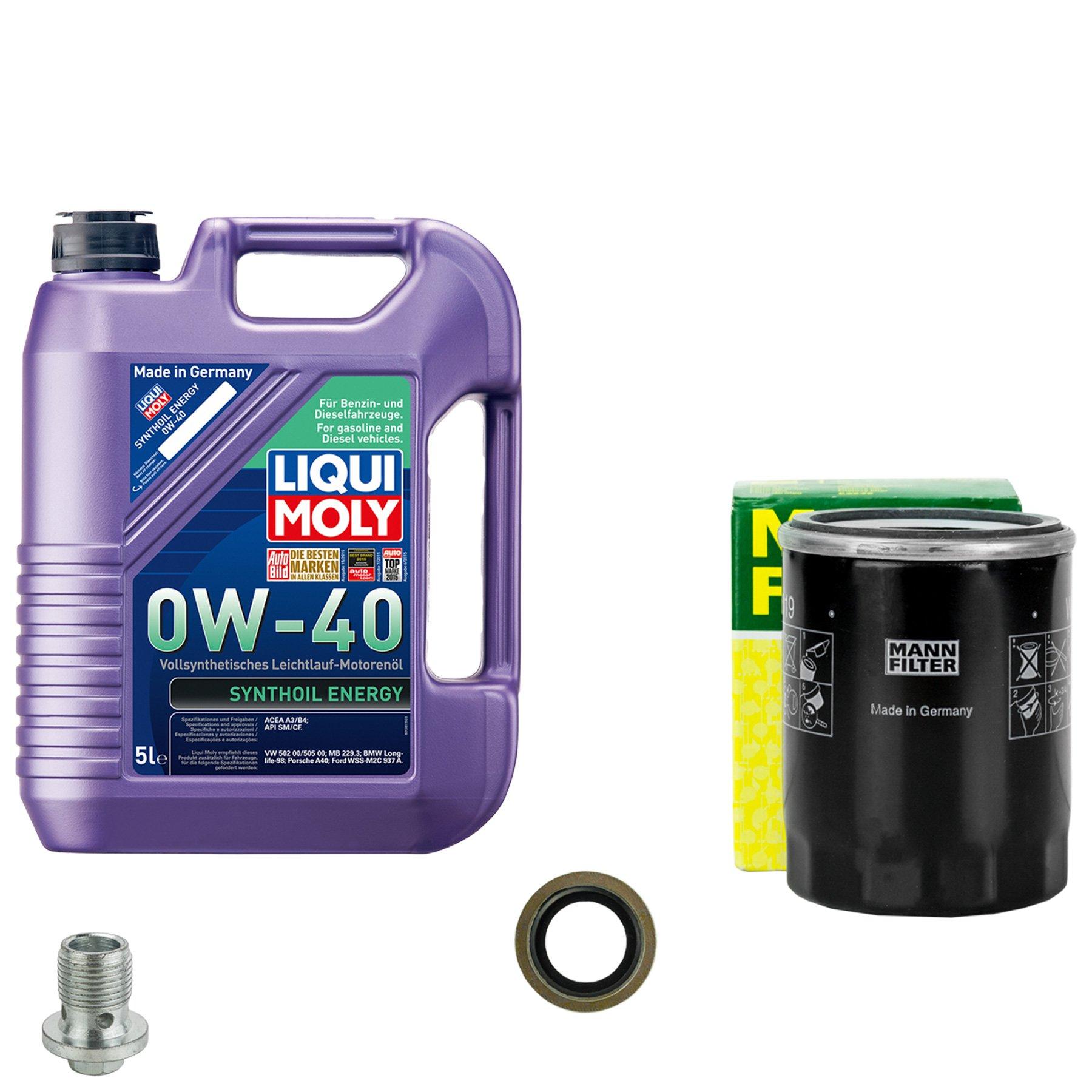 Ölwechsel set komplett 5l lm 0w-40 + mann filter Ölfilter opel