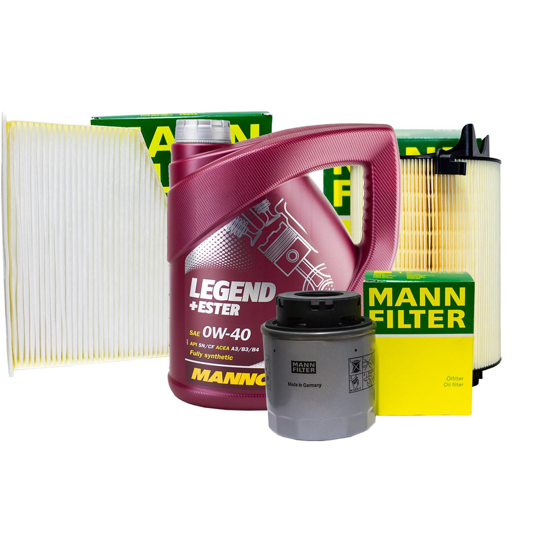 mann filter set inspektionspaket 4l mannol 0w 40 f r. Black Bedroom Furniture Sets. Home Design Ideas