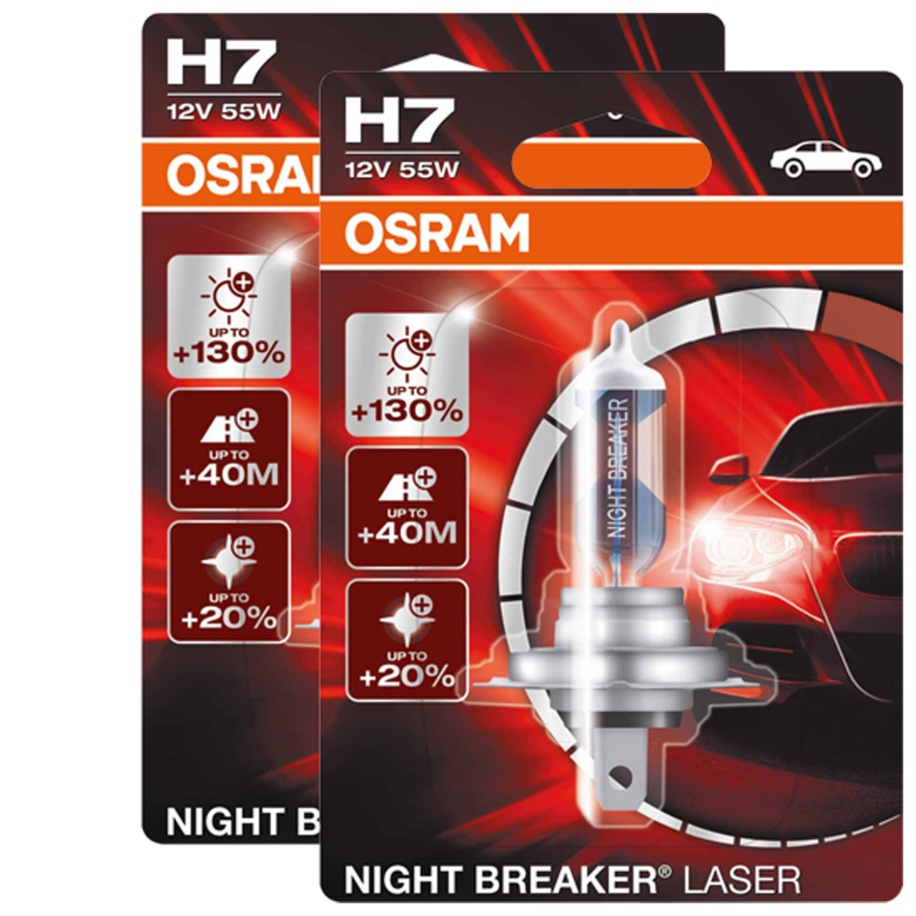 2x osram gl hbirnen night breaker laser h7 12v 55w px26d. Black Bedroom Furniture Sets. Home Design Ideas