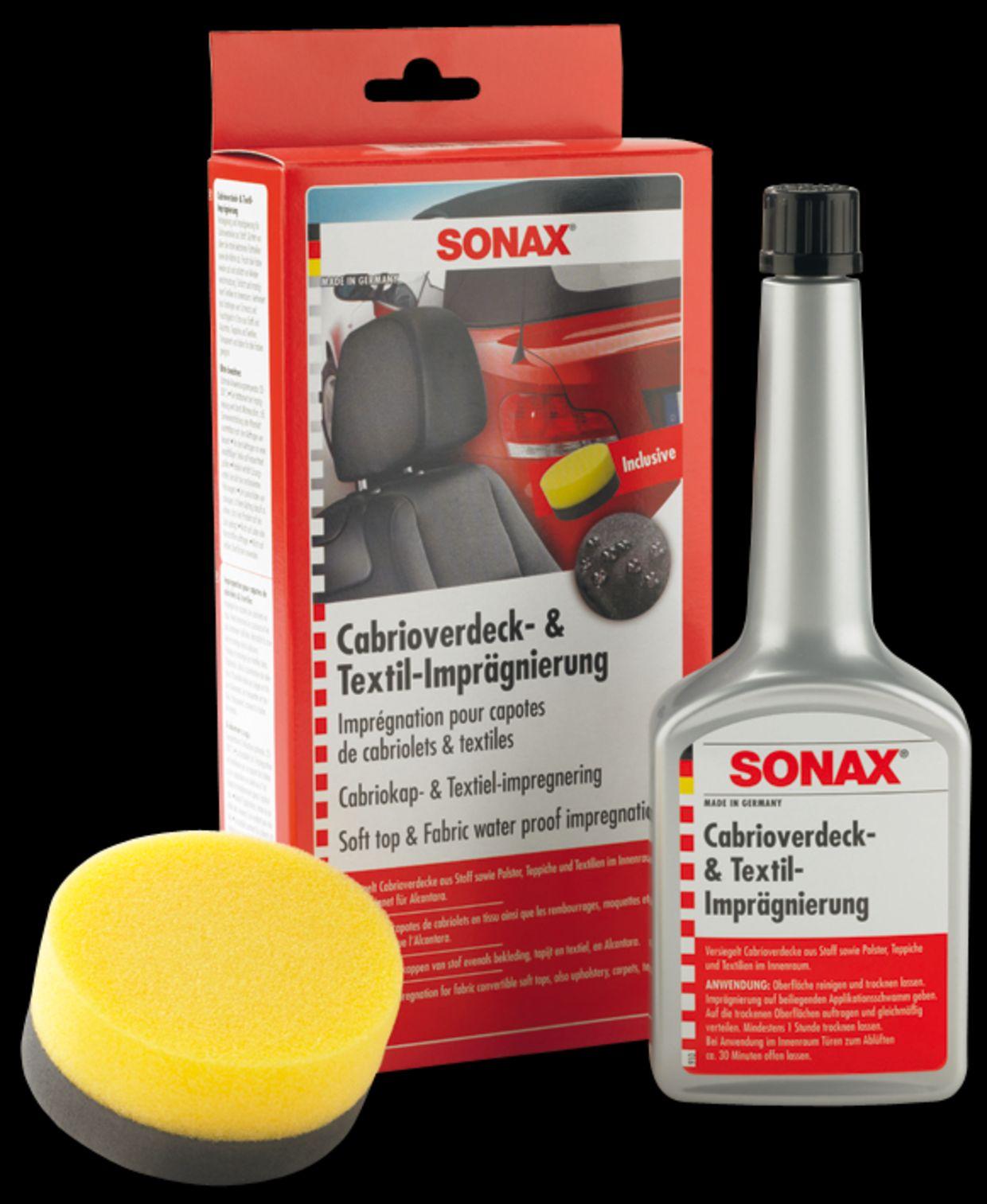sonax cabrio verdeck textil impr gnierung 250ml 310 100 ebay. Black Bedroom Furniture Sets. Home Design Ideas