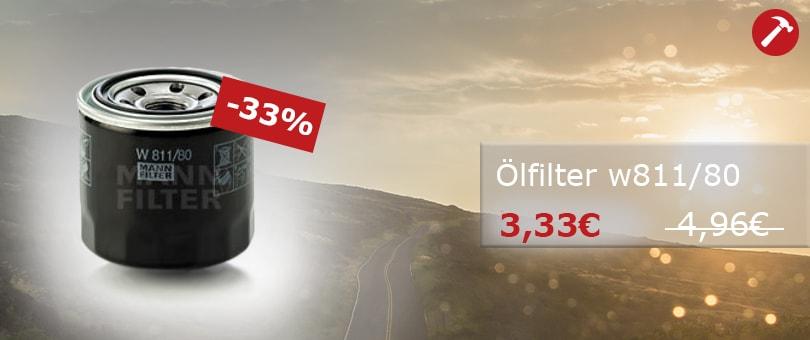 Unser Hammerpreis: MANN-FILTER Ölfilter W811/80