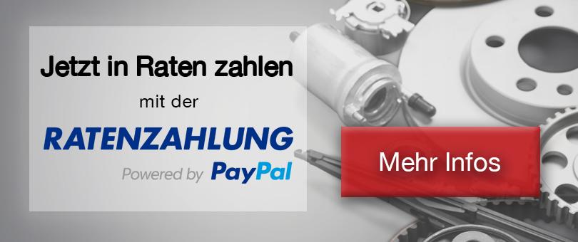 Jetzt bezahlen mit der PayPal Ratenzahlung!
